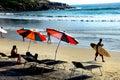 Kovalam sea beach of kerala december thiruvananthapuram india asia tourists enjoying at the Stock Image