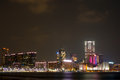 Kowloon night view of hong kong peninsula Stock Images