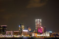 Kowloon night view of hong kong peninsula Royalty Free Stock Photos