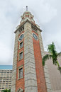 Kowloon railway clock tower belfry stands meters high built in in the previous train station in the train station Royalty Free Stock Photos
