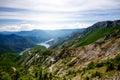 Kozjak lake in macedonia beautiful mountains and near skopje macedonian landscape Royalty Free Stock Photography