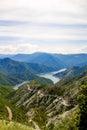 Kozjak lake in macedonia beautiful mountains and near skopje macedonian landscape Royalty Free Stock Photo