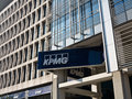 Kpmg offices logo and firm is displayed at the company s in milano Royalty Free Stock Image