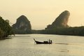 Krabi landmark kanaab nam cliff town thailand Stock Photography