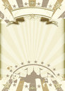 Kraft paper circus sunbeams poster Royalty Free Stock Photo