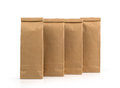 Kraft paper packages isolated on white background Royalty Free Stock Photography