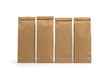 Kraft paper packages isolated on white background Royalty Free Stock Photo