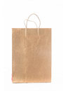 Kraft paper shopping bag on a white background Stock Photography