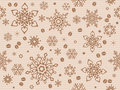 Kraft paper textured seamless christmas pattern with coffee bean