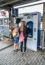 stock image of  Krakau August 20th 2017: Tourists getting public transport ticke