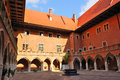 Krakow jagiellonian university polish republic patio of the Stock Image