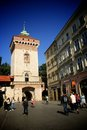 Krakow old town medieval city gate poland Royalty Free Stock Photography