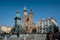 Krakow Old Town Square Stock Photography