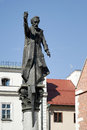 Krakow poland europe september piotr skarga statue in kr on Stock Image