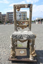 KRAKOW, POLAND, JUL 3: Chair in the Plac Bohaterow Getta in Jewi