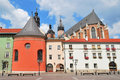 Krakow.  Small Market Square Royalty Free Stock Photos