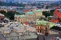Krakow top view high angle poland Royalty Free Stock Photo