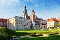 Krakow, Wawel castle in Poland Royalty Free Stock Photo