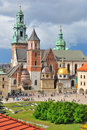 Krakow wawel cathedral poland on the background of the stormy sky Stock Photo