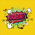 Krash! Comic Speech Bubble. Vector Eps 10
