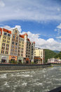 Krasnaya polyana sochi olympic park roza khutor hotels venue winter games in in with the infrastructure Stock Photo