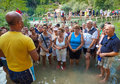 Kravice waterfalls bosnia and herzegovina aug religious tourists from medjugorje on august at in bh it is Stock Photo