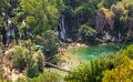 Kravice waterfalls bosnia and herzegovina aug tourists swimming in a river on august at in bh it is frequently Stock Image