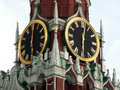 Kremlin chiming clock spasskaya tower of moscow Stock Photo