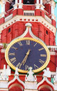 Kremlin chiming clock of the spasskaya tower moscow russia Stock Photography
