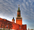 Kremlin clock of the Spasskaya Tower. Moscow Royalty Free Stock Image