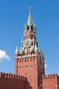 Kremlin clock tower in moscow russia Stock Photography