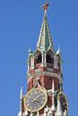Kremlin clock tower in moscow russia Stock Image