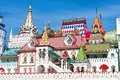 Kremlin in izmailovo beautiful view of moscow russia Royalty Free Stock Photo