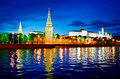Kremlin moscow russia stunning night view of Royalty Free Stock Photography