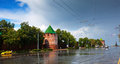 Kremlin at Nizhny Novgorod in summer Stock Photo