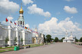 Kremlin square with Alexander Nevsky church Royalty Free Stock Photography