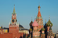 The Kremlin & St Basils Cathedral, Moscow, Russia Royalty Free Stock Photo
