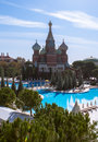 Kremlin style hotel, Antalya, Turkey Royalty Free Stock Photo