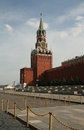 Kremlin tower with chime, Moscow Royalty Free Stock Images