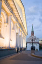 Kremlin Tower and manege Stock Photography