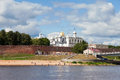 Kremlin in veliky novgorod russia august town fortress with st sophia cathedral on august famous ancient Royalty Free Stock Image