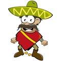 Kreskówka meksykanin Fotografia Royalty Free