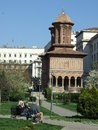 Kretzulescu church located downtown in bucharest romania in a sunny summer day Royalty Free Stock Images