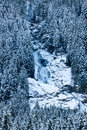 Krimml cascades austrian alps near kitzbuehel in winter Stock Photos