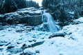 Krimml cascades austrian alps near kitzbuehel in winter Stock Image