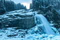 Krimml cascades austrian alps near kitzbuehel in winter Royalty Free Stock Images