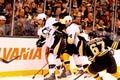 Kris Letang and Brooks Orpik Penguins defense Royalty Free Stock Photo