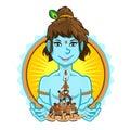 Krishna Janmashtami Dahi Handi Illustration