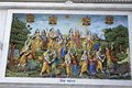 Krishna lila march vrindavan uttar pradesh india image describes the holy pastimes of lord or on the wall of prem mandir Royalty Free Stock Images
