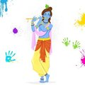 Krishna Playing Holi Stock Photos